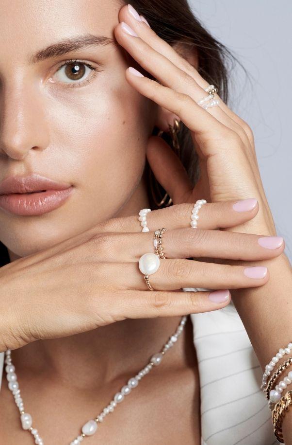 Pierścionki z perłami