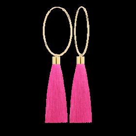 Kolczyki Big Passion Pink