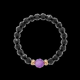 Pierścionek elastyczny Lilac Dark