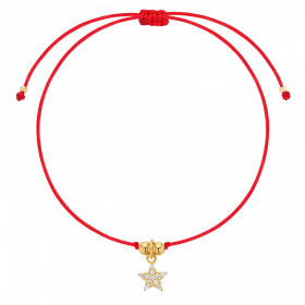 Bransoletka na lince Shooting Star Red Gold