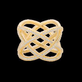 Pierścionek z cyrkoniami rosette