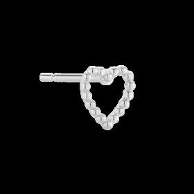 Srebrny kolczyk Love w kształcie serca