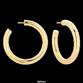 Kolczyki typu hoops pozłacane