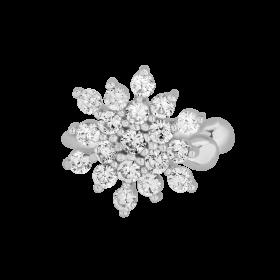 Nausznica Snowflake z cyrkoniami