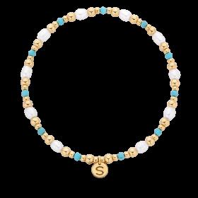 Bransoletka z perłami i kuleczkami gold-filled