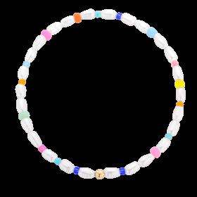 bransoletka z perełkami i koralikami