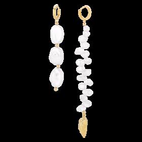 Kolczyki asymetryczne z perłami
