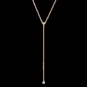Naszyjnik złocony z krawatką