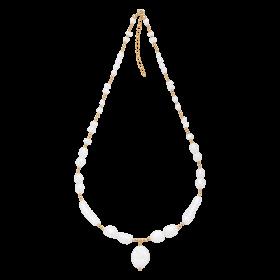 Naszyjnik z perłami i kuleczkami gold-filled
