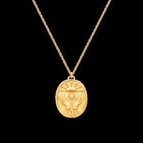 Naszyjnik złocony z zawieszką
