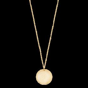 Naszyjnik złocony z młotkowaną blaszką