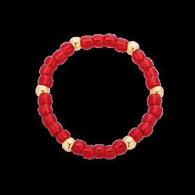 Pierścionek z czerwonych koralików