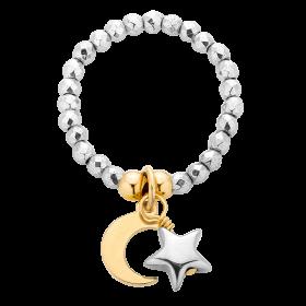 Pierścionek z księżycem i gwiazdką