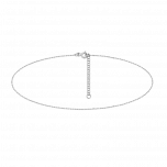 Srebrna bransoletka na kostkę Twist