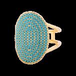 Pierścionek Island Turquoise Gold
