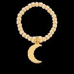 Pierścionek elastyczny z księżycem Gold