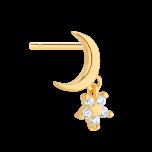 Kolczyk z księżycem Celebrity Gold