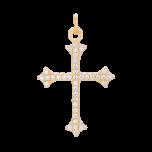 Zawieszka z cyrkoniowym krzyżykiem Gold