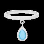 srebrny pierścionek z turkusowym oczkiem Flawless