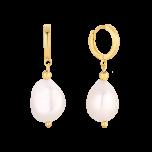 Kolczyki Mini Hoops z perłami