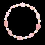 Bransoletka elastyczna Pacific Sun z perłami hodowlanymi i opalem przeplatanymi kuleczkami gold-filled