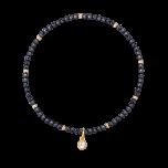 Bransoletka elastyczna z kamieniami naturalnymi  i kuleczkami gold-filled