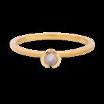 Pierścionek złocony z  fioletową cyrkonią