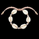 Bransoletka na lince z muszelkami Bahama Sand