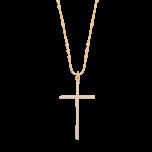 Naszyjnik Simple Cross Złocony