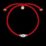 Czerwona bransoletka na lince Amulet