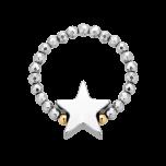 Pierścionek elastyczny Starry Night Silver