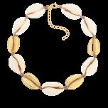 Bransoletka na kostkę ze złotymi muszelkami Treasure Island