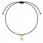 Bransoletka na lince Shooting Star Black Gold