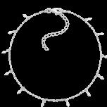 Delikatna srebrna bransoletka  na kostkę Ray SIlver