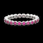 Pierścionek z różowymi cyrkoniami