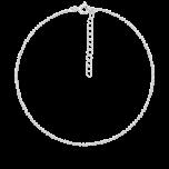 Srebrna bransoletka na kostkę Simply Dot