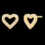 Kolczyki Heart Gold