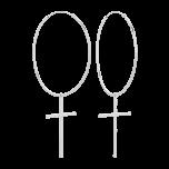 Kolczyki Simple Cross Srebrne