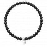 Bransoletka Full Moon Agat Black Silver