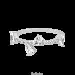 Srebrny pierścionek z cyrkoniami Crystal Kiss