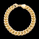 Bransoletka łańcuch mosiądz złocony