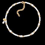 Bransoletka na kostkę z perłami i koralikami