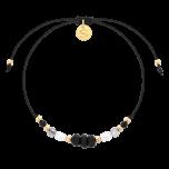 Bransoletka na nitce z perłami i kamieniami naturalnymi