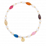 Bransoletka z pereł i kolorowych koralików