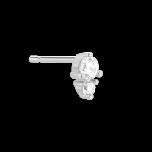 Kolczyk sztyft srebrny z cyrkonią