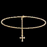 Łańcuszek na brzuch z krzyżykiem