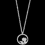 Naszyjnik srebrny z różą