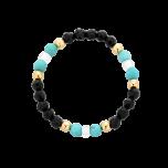 Pierścionek elastyczny z koralików i kamieni naturalnych