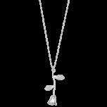 Naszyjnik z różą srebrny
